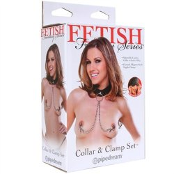 Fetish Fantasy Collar & Clamp Set 10 Product Image