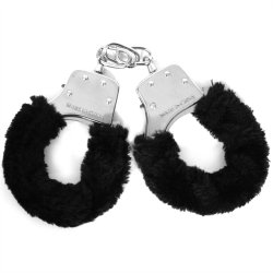 Sex & Mischief: Furry Handcuffs - Black Product Image