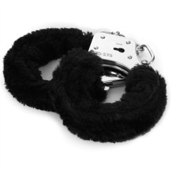 Sex & Mischief: Furry Handcuffs - Black 3 Product Image