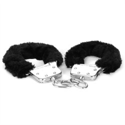 Sex & Mischief: Furry Handcuffs - Black 5 Product Image