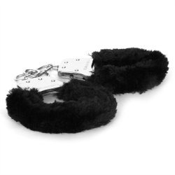 Sex & Mischief: Furry Handcuffs - Black 7 Product Image