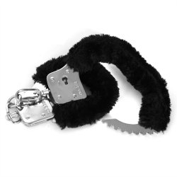 Sex & Mischief: Furry Handcuffs - Black 8 Product Image