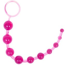 Sassy 10 Anal Beads - Pink Product Image