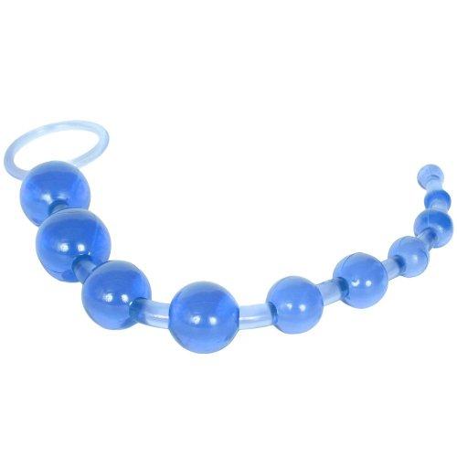 Sassy 10 Anal Beads - Blue 4 Product Image