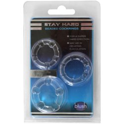 Stay Hard: Beaded Cock Rings - Clear - 3 Pack 6 Product Image