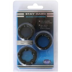 Stay Hard: Beaded Cock Rings - Black - 3 Pack 7 Product Image