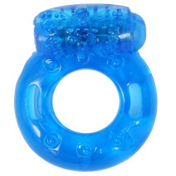 Stay Hard: Reusable Vibrating Cock Ring - Blue 1 Product Image