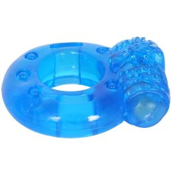 Stay Hard: Reusable Vibrating Cock Ring - Blue 6 Product Image