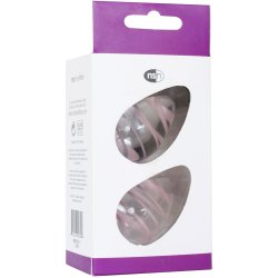 Crystal Premium Glass - Kegel Eggs - Clear with Pink Stripes 11 Product Image