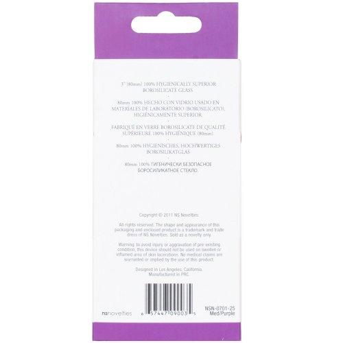 Crystal Premium Glass - Medium Plug - Clear to Purple 10 Product Image