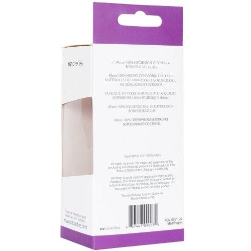 Crystal Premium Glass - Medium Plug - Clear to Purple 11 Product Image
