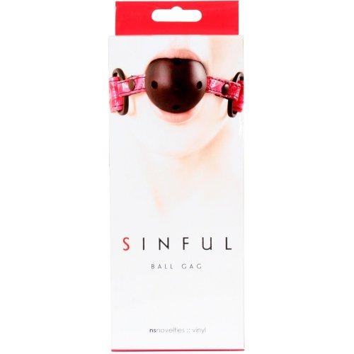 Sinful Ball Gag - Pink 7 Product Image