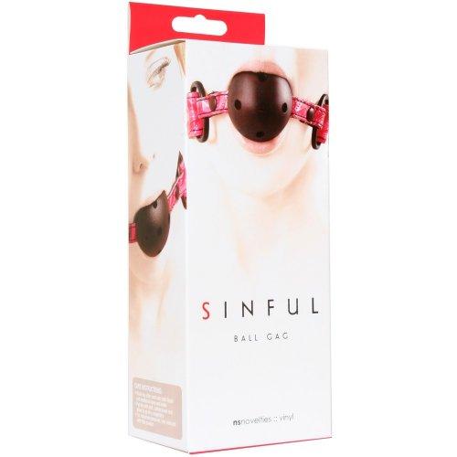 Sinful Ball Gag - Pink 8 Product Image