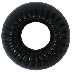 Perfect Fit: Ribbed Ring - Black 1 Product Image