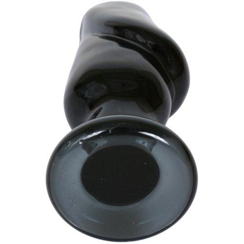 """Helmet Head: Premium Glass Plug - XL - 5"""" Black 7 Product Image"""