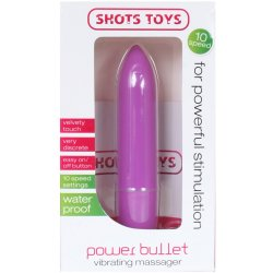 Shots Toys: Power Bullet Vibrating Massager - Purple 8 Product Image