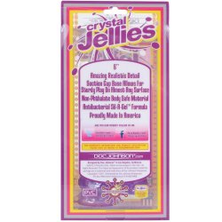 """Crystal Jellies Ballsy Cock w/ Suction Cup - 6"""" Purple 10 Product Image"""