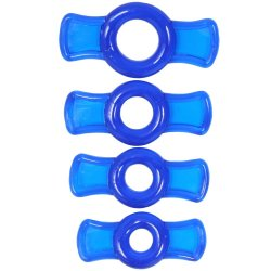TitanMen Cock Ring Set - Blue Product Image