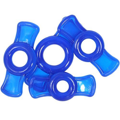 TitanMen Cock Ring Set - Blue 2 Product Image