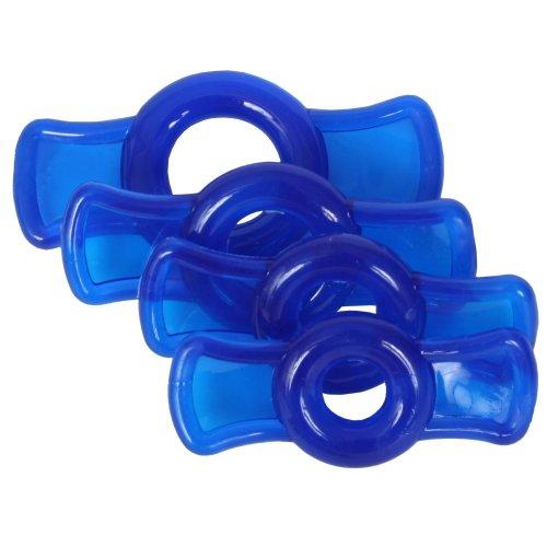 TitanMen Cock Ring Set - Blue 3 Product Image