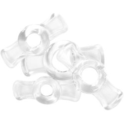 TitanMen Cock Ring Set - Clear 2 Product Image