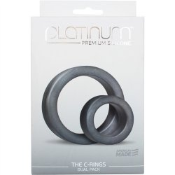 Platinum Silicone: The C Rings Double Pack - Charcoal 8 Product Image