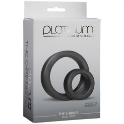 Platinum Silicone: The C Rings Double Pack - Charcoal 9 Product Image