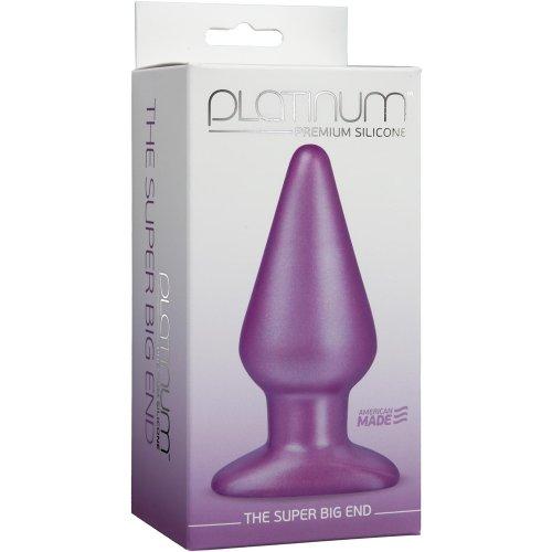 Platinum Silicone: The Super Big End - Large Butt Plug - Purple 6 Product Image