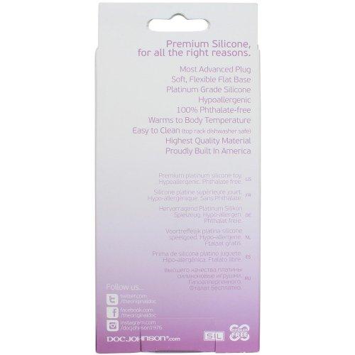 Platinum Silicone: The Super Big End - Large Butt Plug - Purple 7 Product Image