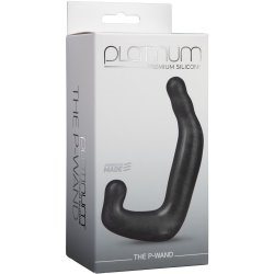 Platinum Silicone: The P-Wand Massager - Black 6 Product Image