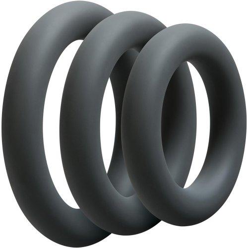 Optimale: 3 C-Ring Thick Set - Slate 1 Product Image