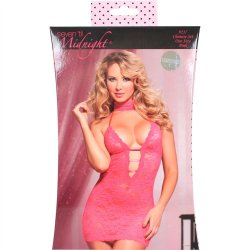 Midnight Affair Chemise Set - Pink 3 Product Image