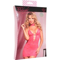 Midnight Affair Chemise Set - Pink 4 Product Image
