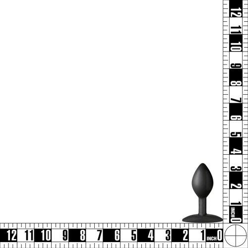 Platinum Silicone: Minis Spade Plug - Small - Black 11 Product Image
