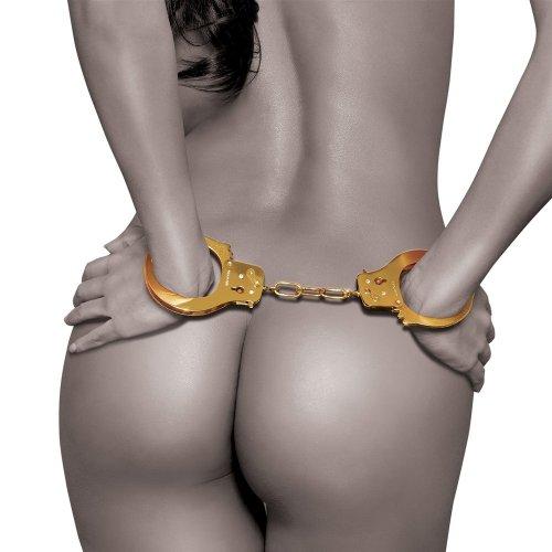 Fetish Fantasy Gold Metal Cuffs 1 Product Image