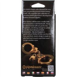 Fetish Fantasy Gold Metal Cuffs 8 Product Image