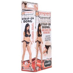 Dominant Submissive: Strap-On Ribbed Rotating Dong 3 Product Image