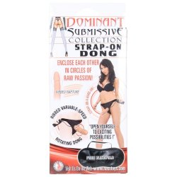 Dominant Submissive: Strap-On Ribbed Rotating Dong 4 Product Image