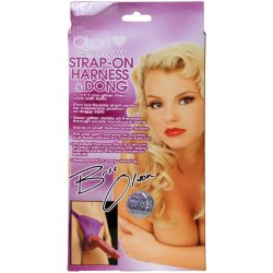 Bree Olson Strap On Harness With 7 Inch Glitter Dong - Purple 5 Product Image