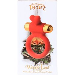 Wonderland: The Heavenly Heart Silicone C-Ring - Red 4 Product Image