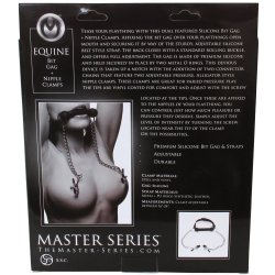 Silicone Bit Gag With Nipple Clamps 8 Product Image