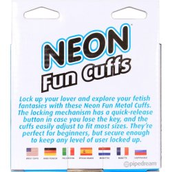 Neon Fun Cuffs - Blue 3 Product Image