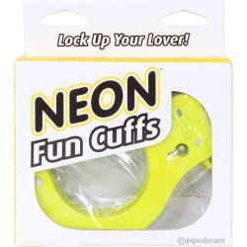 Neon Fun Cuffs - Yellow 2 Product Image