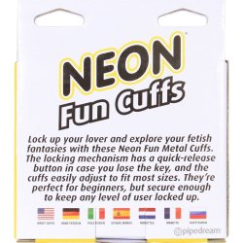 Neon Fun Cuffs - Yellow 3 Product Image