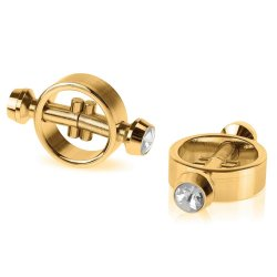 Fetish Fantasy Magnetic Nipple Clamps - Gold Product Image