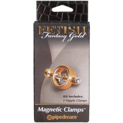 Fetish Fantasy Magnetic Nipple Clamps - Gold 3 Product Image