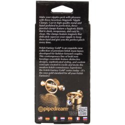 Fetish Fantasy Magnetic Nipple Clamps - Gold 5 Product Image