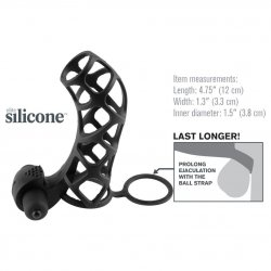 Fantasy X-tensions: Extreme Silicone Power Cage - Black 2 Product Image