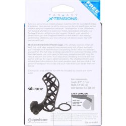 Fantasy X-tensions: Extreme Silicone Power Cage - Black 5 Product Image