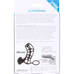 Fantasy X-tensions: Deluxe Silicone Power Cage - Black 5 Product Image